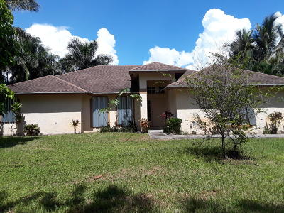 Loxahatchee Single Family Home For Sale: 16629 90th Street