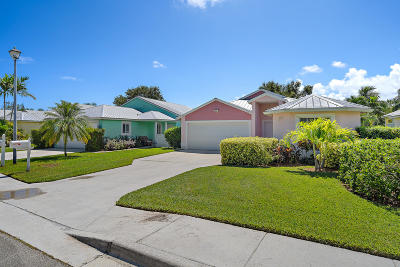 Jupiter Single Family Home For Sale: 104 Old Jupiter Beach Road