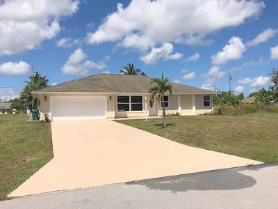 Port Saint Lucie Single Family Home For Sale: 2650 SW Harem Circle