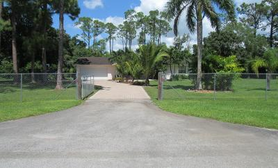 Loxahatchee Single Family Home For Sale: 16745 Okeechobee Boulevard