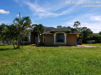 Loxahatchee Single Family Home For Sale: 14282 Temple Boulevard
