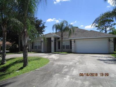 Port Saint Lucie Single Family Home For Sale: 276 NE Granduer Avenue