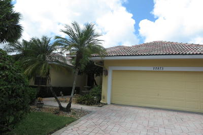 Boca Raton Single Family Home For Sale: 22873 La Corniche Way