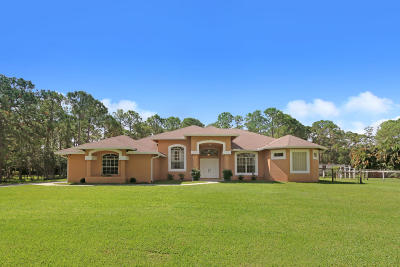 Jupiter Single Family Home For Sale: 12904 153rd Court
