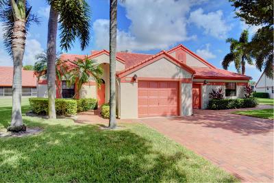 Delray Beach Single Family Home For Sale: 7797 Lexington Club Boulevard #A