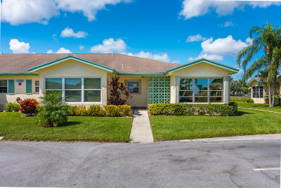 Delray Beach Single Family Home Contingent: 5385 Lakefront Boulevard #D