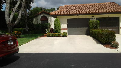Boynton Beach Single Family Home For Sale: 5919 Autumn Lake Lane #A