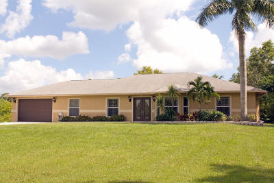 Jupiter Single Family Home For Sale: 11965 168th Street
