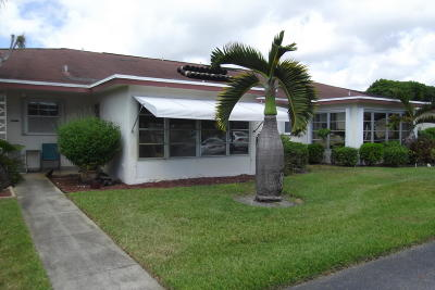 Delray Beach Single Family Home Contingent: 4585 NW 3rd Street #b