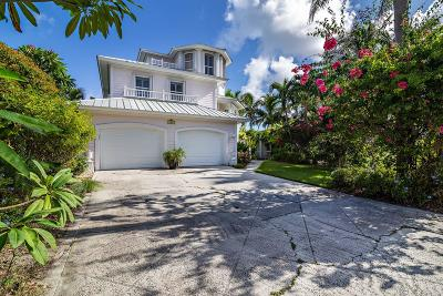 Tequesta Single Family Home For Sale: 152 Intracoastal Circle