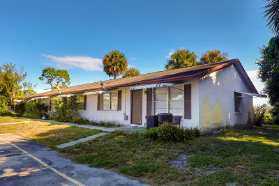 West Palm Beach Multi Family Home For Sale: 3164 Melaleuca Road