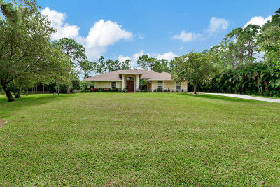 Loxahatchee Single Family Home For Sale: 18312 49th Street