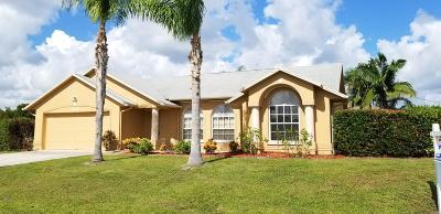Port Saint Lucie Single Family Home Contingent: 1217 SW Kalevala Drive