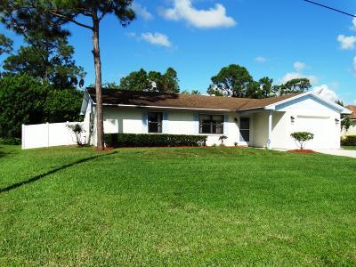 Port Saint Lucie Single Family Home For Sale: 2138 SW Wayne Street