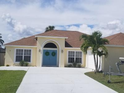 Port Saint Lucie Single Family Home For Sale: 2538 SW Danbury Street