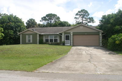 Port Saint Lucie Single Family Home For Sale: 998 SW Firestone Avenue