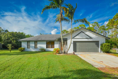 Loxahatchee Single Family Home For Sale: 17327 40th Run N