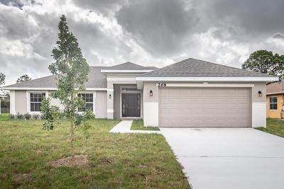 Port Saint Lucie Single Family Home For Sale: 268 SW Grove Avenue