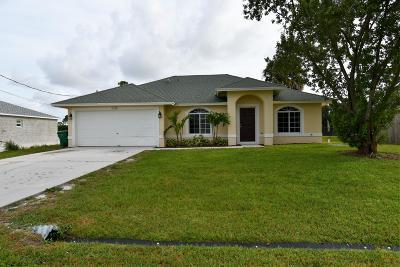 Port Saint Lucie Single Family Home Contingent: 1126 SW Bellevue Avenue