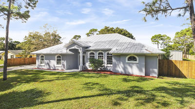 Fort Pierce Single Family Home For Sale: 6009 Pinetree Drive