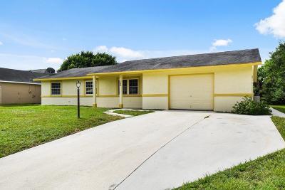 Port Saint Lucie Single Family Home For Sale: 169 SE Crosspoint Drive