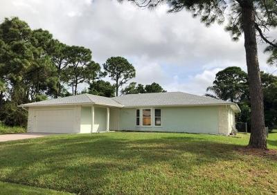 Port Saint Lucie Single Family Home For Sale: 1655 SW Norman Lane