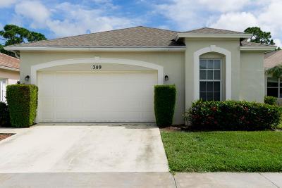 Port Saint Lucie Single Family Home For Sale: 309 SW Tomoka Springs Drive
