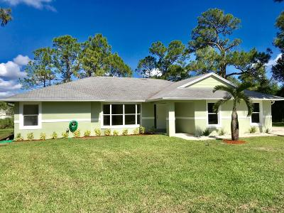 Jupiter Single Family Home For Sale: 13475 150th Court