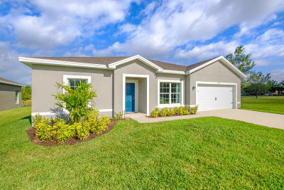 Fort Pierce Single Family Home For Sale: 5258 Oakland Lake Circle