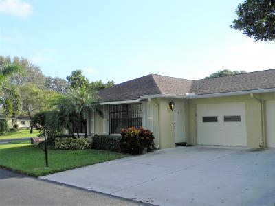 Boynton Beach Single Family Home For Sale: 9950 Orchid Tree Trail #A