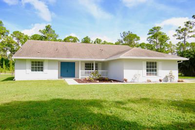 Loxahatchee Single Family Home For Sale: 17685 Temple Boulevard