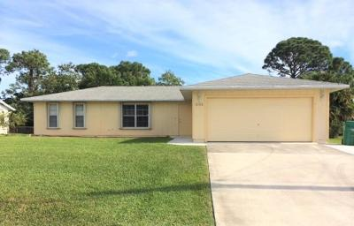 Fort Pierce Single Family Home For Sale: 6100 Palm Drive