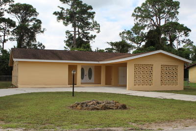 Fort Pierce Single Family Home For Sale: 3303 Avenue S
