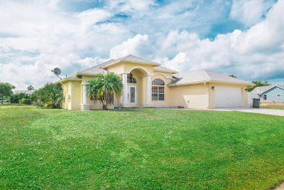 Port Saint Lucie Single Family Home For Sale: 4382 SW Paley Road