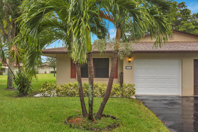 Boynton Beach Single Family Home For Sale: 1665 Palmland Drive