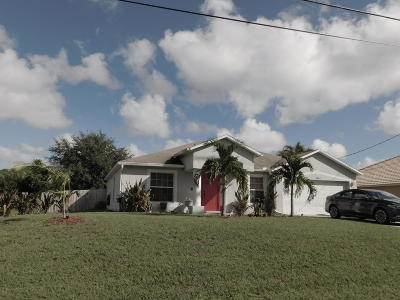 Port Saint Lucie Single Family Home For Sale: 1481 SW Edinburgh Drive