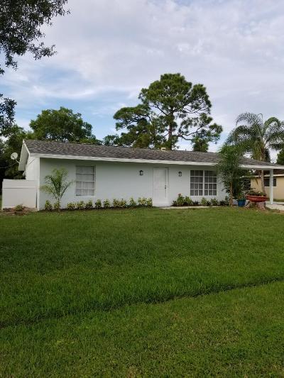 Port Saint Lucie Single Family Home For Sale: 725 SE Hollahan Av Avenue