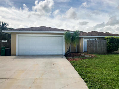 Port Saint Lucie Single Family Home For Sale: 382 NE Genesee Avenue
