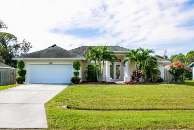 Port Saint Lucie Single Family Home For Sale: 1826 SW Notre Dame Avenue