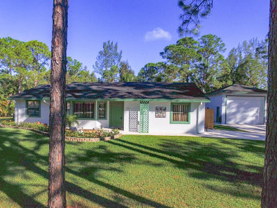 Loxahatchee Single Family Home For Sale: 15285 78th Place