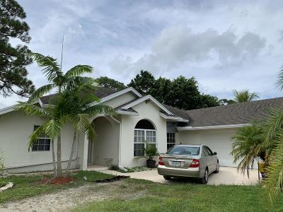 West Palm Beach Single Family Home For Sale: 12820 87 Th Street