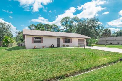 Port Saint Lucie Single Family Home For Sale: 2343 SW Woodridge Street