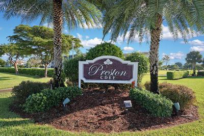 Boca Raton Condo For Sale: 235 Preston F #235