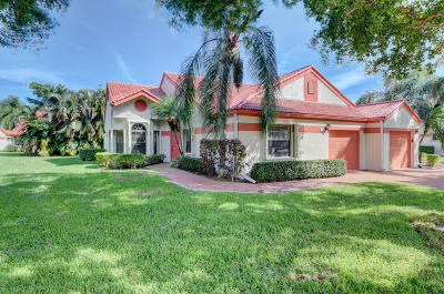 Delray Beach Single Family Home For Sale: 7573 Lexington Club Boulevard #A