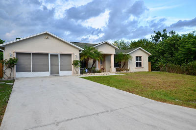 St Lucie County Single Family Home For Sale: 1221 SW Medina Avenue