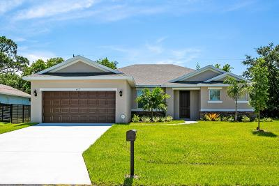 St Lucie County Single Family Home For Sale: 4521 SW Masefield Street