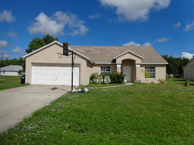 St Lucie County Single Family Home For Sale: 2821 SE Hutchings Avenue