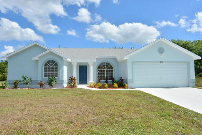 St Lucie County Single Family Home For Sale: 4279 SW Jared Street