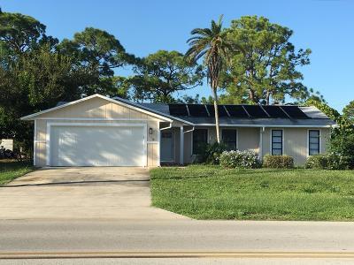 Sebastian Single Family Home For Sale: 116 Englar Drive