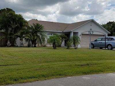 Port Saint Lucie, Saint Lucie West Single Family Home For Sale: 5722 NW Alcazar Terrace